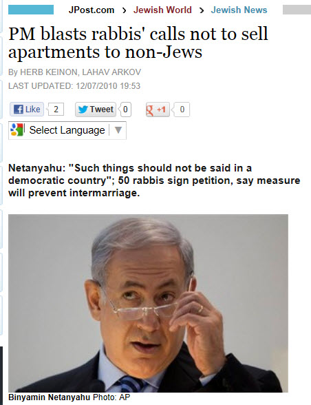 50 Rabbis against Gentiles renting Apertments